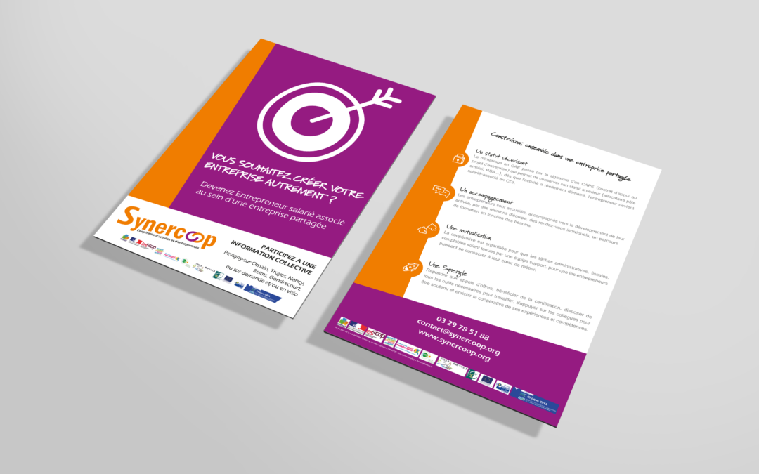 Affiche, flyer & roll up – Synercoop